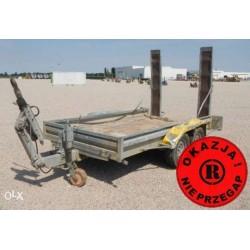 Przyczepa 3,5 tony dwuosiowa DMC 3500 kg 3,5 t najazdy pod minikoparkę